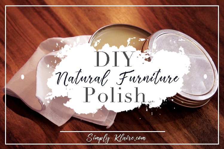 Mix it thoroughly, pour it into the pot you want to use and then wait for it to cool. That's it! Lovely, homemade, non-toxic furniture polish!
